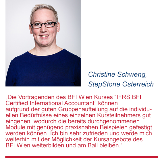 Feedback von Christine Schweng zum Diplomlehrgang IFRS Certified International Accountant